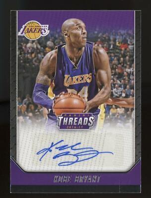 2016 Panini Threads Kobe Bryant Auto Autograph