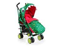Cosatto Supa Stroller Pushchair Buggy Pram 2018 Dino Mighty & Cosatto Dino Supa Changing Bag - NEW
