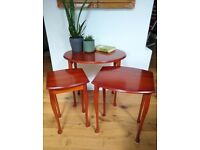 Nest of 3 yew tables £30