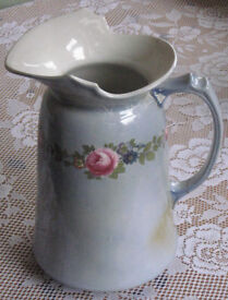 Attractively aged so shabby chic style vintage pitcher