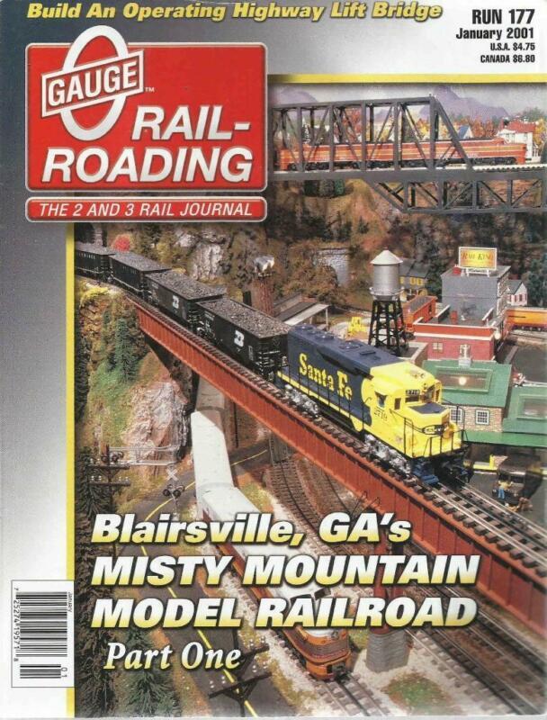 O Gauge Railroading January 2001 Build Operating Highway Lift Bridge Test Track