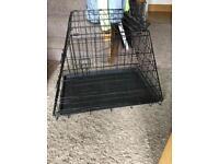 Folding dog travel crate