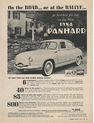 1958 Citroen Dyna Panhard Sedan Ad/Beverly Hills CA