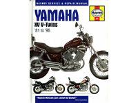 HAYNES YAMAHA XV V-TWINS SERVICE & REPAIR MANUAL 1981 - 1996 MODELS