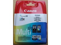 New/Sealed Canon 5225B006 PG-540 Black & CL-541 Colour Ink Cartridges Pack