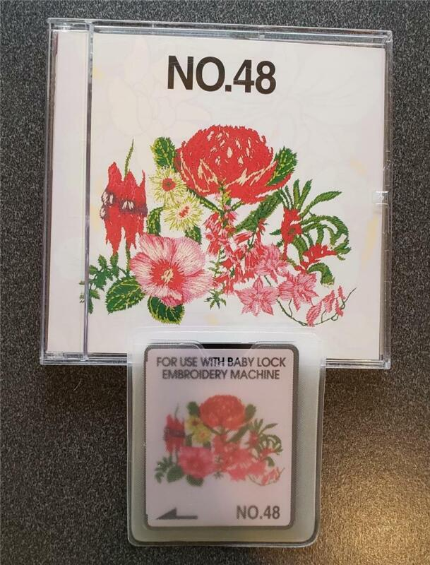 Brother/Babylock/Bernina  Embroidery  Card # 48 Flowers