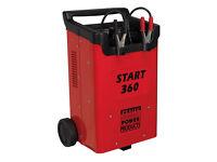 Sealey Tools Start360 12V 24V Battery Charger Starter 230V Car Van HGV Lorry