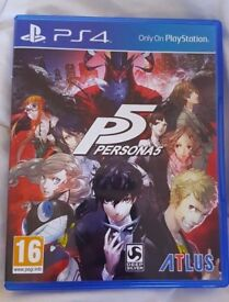 Persona 5 - Sony Playstation 4 - Amazing PS4 Adventure Anime Jazz Japanese RPG Video Game - Like New
