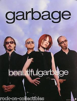 GARBAGE 2001 BEAUTIFUL GARBAGE US 2-SIDED PROMO POSTER ORIGINAL