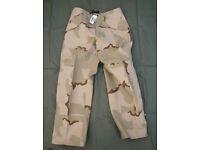 Brand New, Genuine US Army GORETEX ECWCS Trousers - size Medium/Long