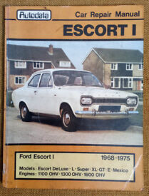 Ford Escort MKI 1968-75 Autodata & Intereurope Workshop Repair manuals