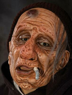 Wino Mask Bum Old Man Dangling Cigarette Drunk Halloween Costume Party
