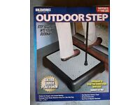 Outdoor Step .... step up or step down more easily with this purpose-made step