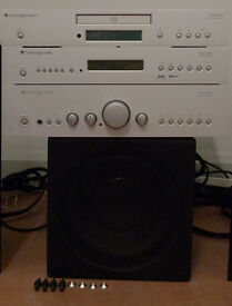 Cambridge Audio Azur Amplifier CD DAB tuner with REL Subwoofer (no speakers)