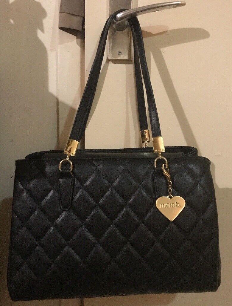 Mark B - Melrose Quilted Black Handbag - Brand New! Great Christmas Gift RRP £55