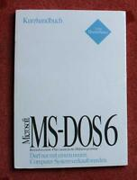 Original Microsoft MS DOS 6 Kurzhandbuch Lizenz OVP Sammler Nordrhein-Westfalen - Herne Vorschau