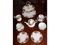 Royal Albert Old Country Rose Tea Set