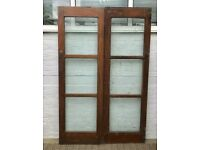 Pair of Internal Wooden Fire Doors #373