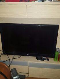 """Lg 37"""" tv and ikea tv unit"""