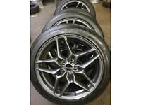 """19"""" infiniti alloy wheels continental tyres fit new shape bmw 5x112"""