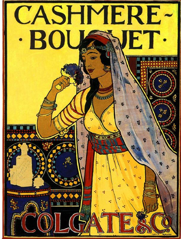Cashmere India Perfume Toiletry Label Vintage Advertisement Art Poster Print