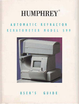 Humphrey 599 Autorefractor Keratometer User Manual Pdf