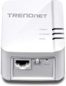 NEW TRENDnet Powerline 1200 AV2 Single Adapter with Gigabit Port, Plug and Play, MIMO