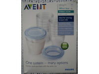 Philips AVENT VIA Milk Storage Cups 180ml/6oz x 10
