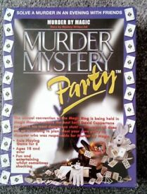 Murder Mystery Dinner Party Kit Game * Murder By Magic * Sealed *