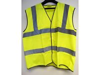 Yellow Hi-Vis Vests Waistcoats SIZE XXXL (3XL) Pack Of 10 Only £5 CAR BOOT SPECIAL Highway Spec