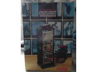 Keter Entertainment Video Cassette Stand Black on Wheels