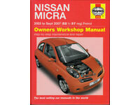 HAYNES NISSAN MICRA WORKSHOP MANUAL 2003 - 2007 PETROL