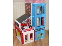 Large Toy Fire Police Station Early Learning Centre Smoke Free Home
