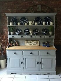 Stunning Pine French Country Farmhouse Spice Dresser in Paris Grey