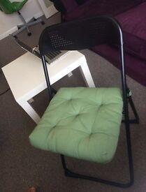 Folding chair + ikea table
