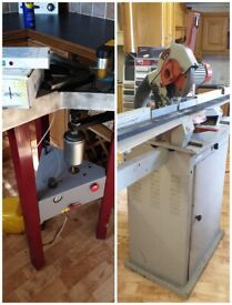 Mitre Chop Saw With Dust Extractor £795 And Compressor Cassese Air Underpinner
