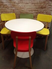Colourful Retro Table & Chair Set