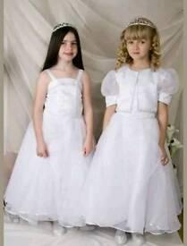 Holy communion flower girl dress age 7 8 9 10