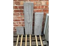 •NEW• LOG EFFECT STEPPING STONES / PATIO FLAGS