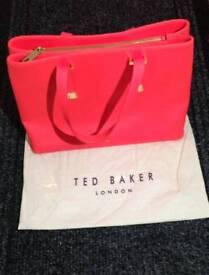 Coral Ted Baker Large Tote Handbag Bag