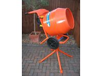 Belle Cement Mixer And Stand. (Practically New)
