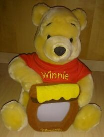 WINNIE THE POOH CUDDLY TOY PHOTOGRAPH HOLDER