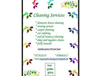 Cleaning services -Summer offer £9.95 per hour