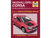 HAYNES VAUXHALL CORSA MANUAL 2000 - '03 PETROL & DIESEL