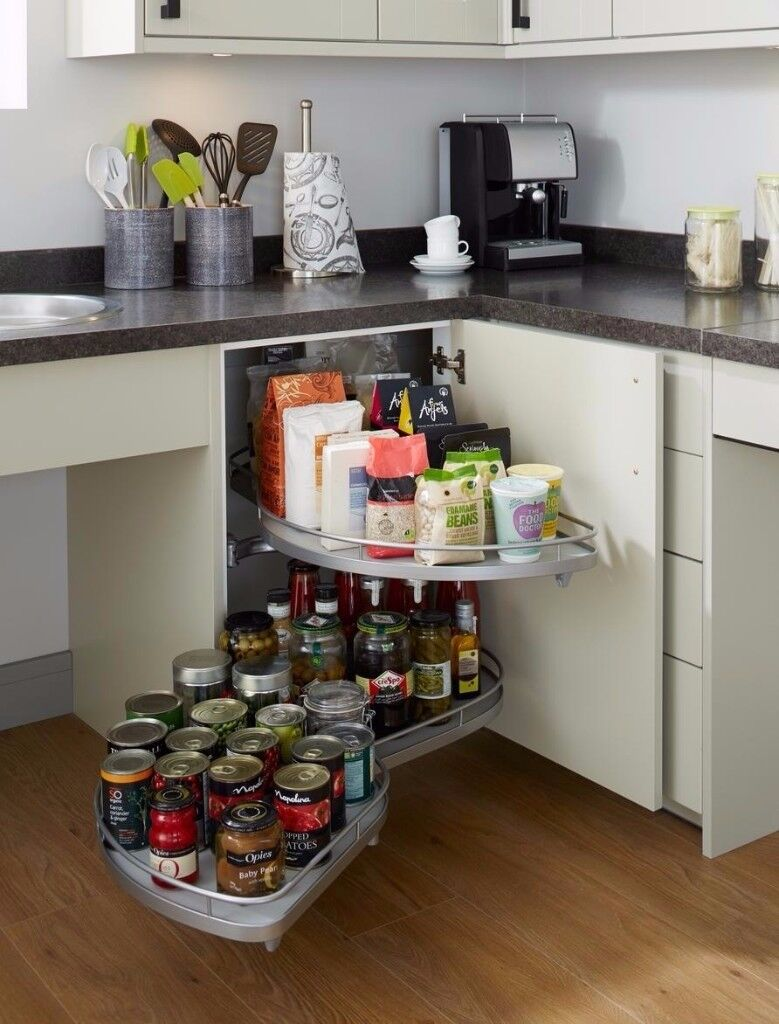 Superbe HOWDENS Kitchen Cupboard Corner Pull Out Storage For 1000mm Base Cabinet  Units Carousel LEFT HAND