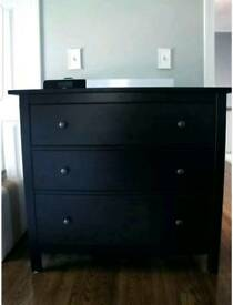 Ikea drawers hemnes in bkack/brown