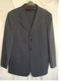 Gents Lightweight Grey Pinstripe Suit