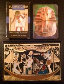 3 Packs Of 'Ancient Egypt' Playing Cards