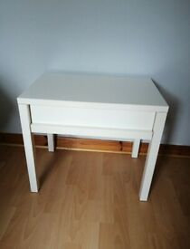 Small white table with drawer