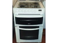 Cannon 60 cm wide double oven and grill dual fuel cooker